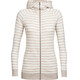 Icebreaker Crush LS Zip Hood Women fawn hthr/snow/stripe